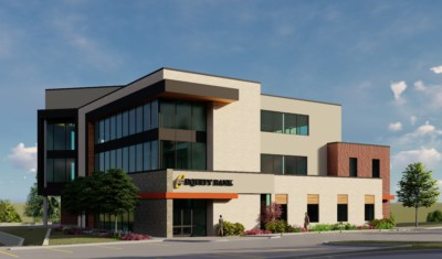 exterior rendering of office building